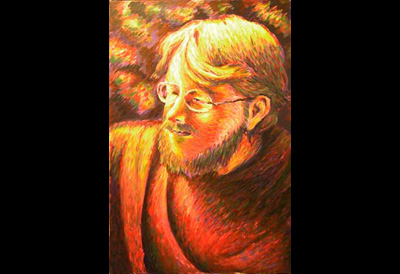 Portrait of artist friend Hoople (Seurat Style)