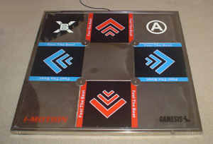 I-Motion Metal DDR Pad as seen on my olde apartment floor