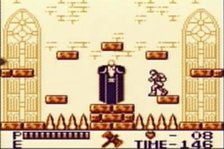 This shows the final blow being delta to Dracula to complete my no death long play of Castlevania 2 Belmont's Revenge for gameboy.