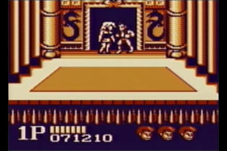 This is the scene in my double dragon no deth long play where you rescue Marion after defeating the final boss. As you can see I still have three reserve lives in the bottom right corner of the screen.