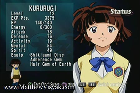 This shows kururugi with a low level of 12 near the end of the Inuyasha low level run.