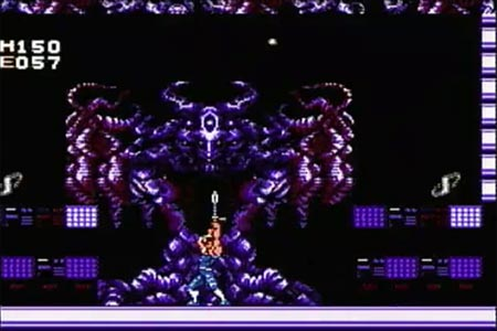 In this screenshot I am engaging Yugdegiral, the final boss of Strider on my no death long play of this original Nintendo cart. On the screen you can see the final boss as I encounter him.