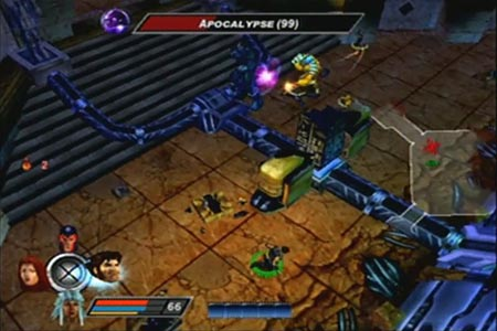The X-men team engage a level 99 Apocalpse with level 66 characters during the final battle.