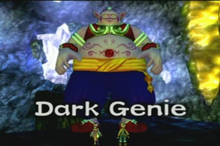 The dark genie is the last boss you have to fight to complete the second and final ending of dark cloud 2.